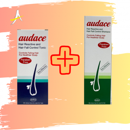 Audace Hair Tonic 200ml + Shampoo 200ml Set (For Hair Thinning And Hair Loss)