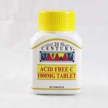 21ST CENTURY ACID FREE C 1000MG TABLET 50'S