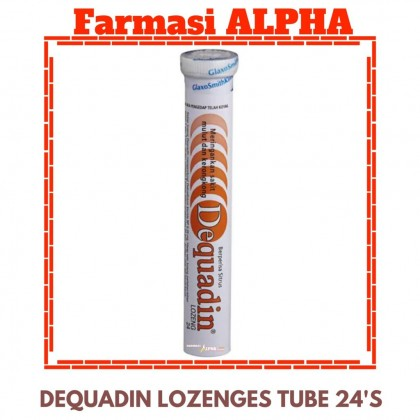 Dequadin Lozenges Tube 24's