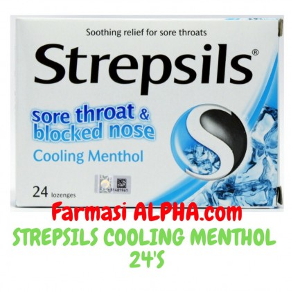 Strepsils Sore Throat & Blocked Nose Cooling Menthol Lozenges 24's