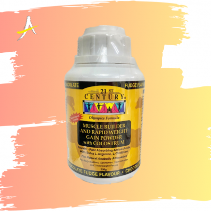21st Century Muscle Builder And Rapid Weight Gain Powder With Colostrum 250g
