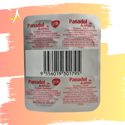 Panadol Actifast 500mg Tablets 2 x 10's