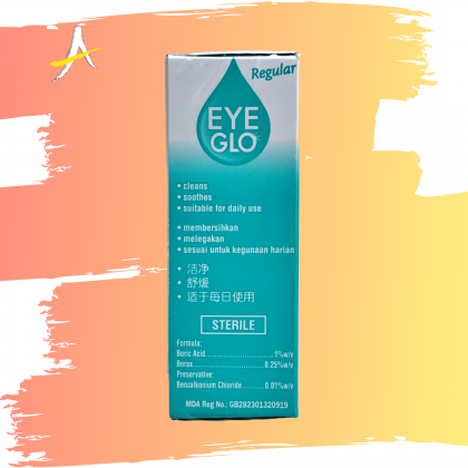 Eye Glo Regular Eye Drops 10ml For Cleans & Soothes Irritated Eyes