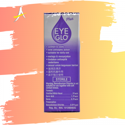 Eye Glo Plus Eye Drops 10ml For Comforts Strained & Tired Eyes