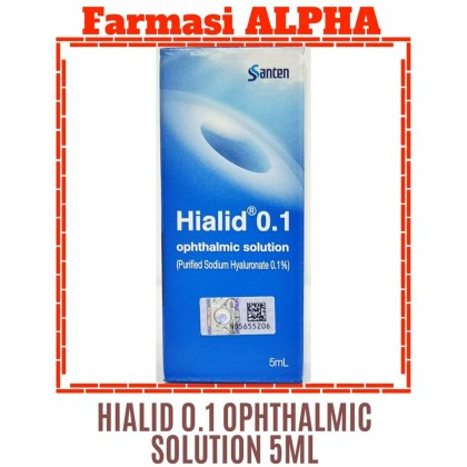 Hialid 09.1% Opthalmic Solution 5ml [New Packing]