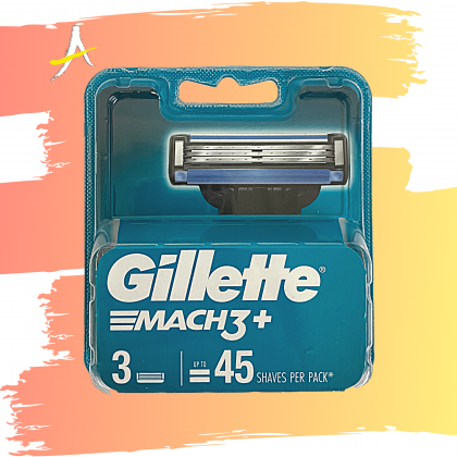 Gillette Mach3 Plus Blade 3 Cartridges For Up To 45 Shaves