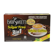 EVERSWEET SUGAR FREE 3 IN 1 WHITE COFFEE 16GM X 15 SACHETS