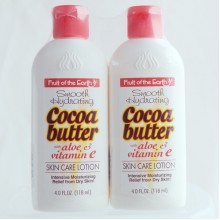 FRUIT OF THE EARTH COCOA BUTTER WITH ALOE & VIT E LOTION 2X118ML