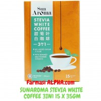 Sunaroma Stevia White Coffee 3in1 15 x 35g