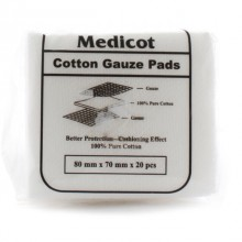Medicot Cotton Gauze Pads 80mm x 70mm x 20pcs(Dressing)
