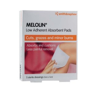 Melolin 5cm x 5cm 5's(Low Adherent Absorbent Pads)