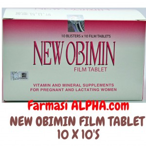 New Obimin Vitamin For Pregant & Lactating Women 100's
