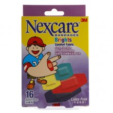 Nexcare Bandages Bright Comfort Fabric 16's