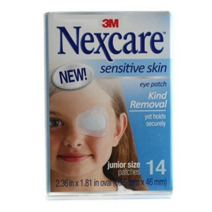 Nexcare Sensitive Skin Eye Patch Junior Size 14's