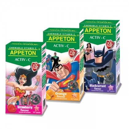 Appeton Activ-C (7-12years) 100mg 60's (Either Org/Bc Or Strw)