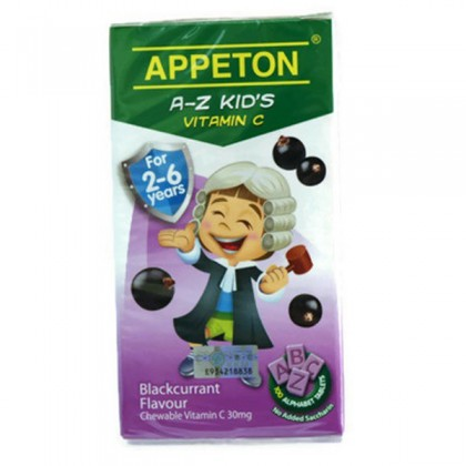 Appeton A-Z Kid's Vit C 30mg 100's (Either Strawberry. Orange Or Grape)