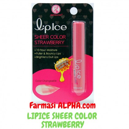 Lip Ice Sheer Color Strawberry Beeswax & Argan Oil 1's
