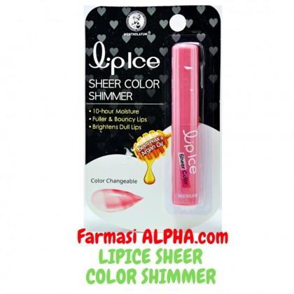 Lip Ice Sheer Color Shimmer Beeswax & Argon Oil 1's